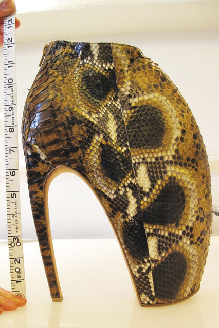 """Top models refused to walk Alexander McQueen's spring 2010 show because the """"Armadillo shoes"""" were too scary-looking."""