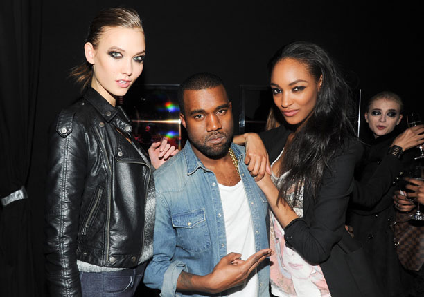 Fashion's fairy prince Kanye West, who totally hearts models, doesn't care whether or not they can walk in his shoes.